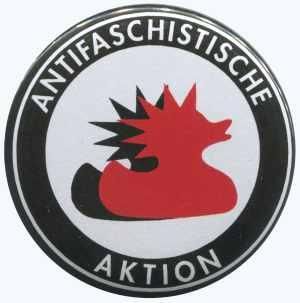 25mm Magnet-Button: Antifaschistische Aktion (Enten)