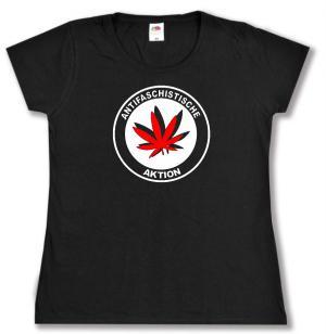 tailliertes T-Shirt: Antifaschistische Aktion (Hanfblatt)