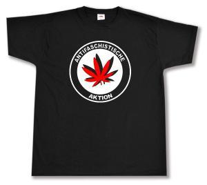 T-Shirt: Antifaschistische Aktion (Hanfblatt)