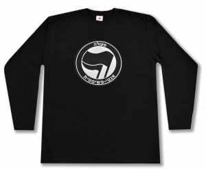 Longsleeve: Antifaschistische Aktion - hebräisch (schwarz/schwarz)