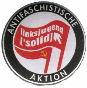 37mm Button: Antifaschistische Aktion Linksjugend