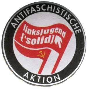 50mm Button: Antifaschistische Aktion Linksjugend