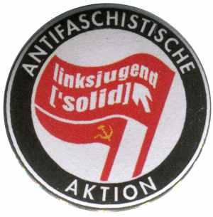 25mm Magnet-Button: Antifaschistische Aktion Linksjugend