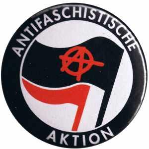 50mm Button: Antifaschistische Aktion (mit A)
