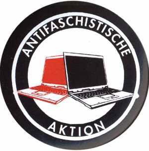 37mm Magnet-Button: Antifaschistische Aktion (Notebooks)