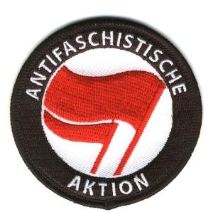 Aufnäher: Antifaschistische Aktion (rot/rot)