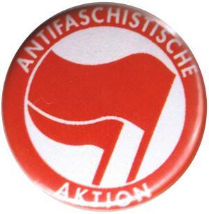 25mm Button: Antifaschistische Aktion (rot/rot)
