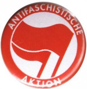 37mm Button: Antifaschistische Aktion (rot/rot)