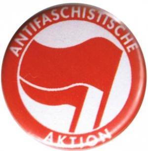 25mm Magnet-Button: Antifaschistische Aktion (rot/rot)