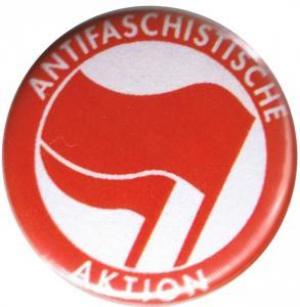 37mm Magnet-Button: Antifaschistische Aktion (rot/rot)