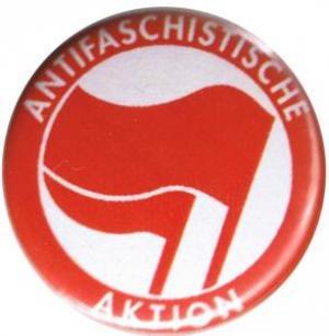 50mm Magnet-Button: Antifaschistische Aktion (rot/rot)