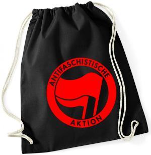 Sportbeutel: Antifaschistische Aktion (rot/rot)
