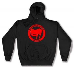 Kapuzen-Pullover: Antifaschistische Aktion (rot/rot)