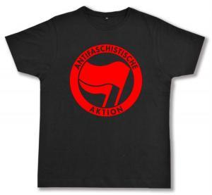 Fairtrade T-Shirt: Antifaschistische Aktion (rot/rot)