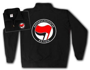 Sweat-Jacket: Antifaschistische Aktion (rot/schwarz)