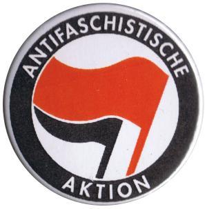 37mm Button: Antifaschistische Aktion (rot/schwarz)