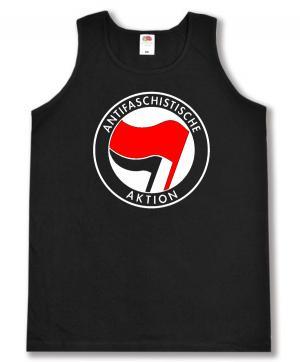 Tanktop: Antifaschistische Aktion (rot/schwarz)