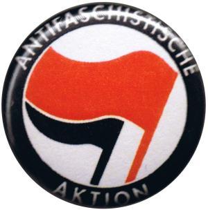 50mm Magnet-Button: Antifaschistische Aktion (rot/schwarz)