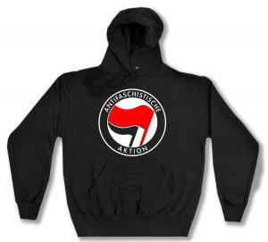 Kapuzen-Pullover: Antifaschistische Aktion (rot/schwarz)
