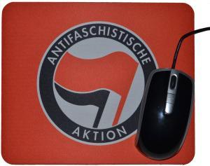Mousepad: Antifaschistische Aktion (rot/schwarz)