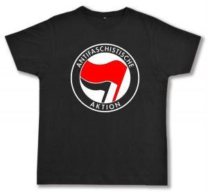 Fairtrade T-Shirt: Antifaschistische Aktion (rot/schwarz)
