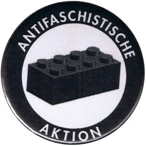 25mm Magnet-Button: Antifaschistische Aktion - schwarzer Block