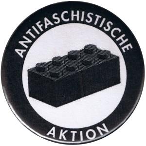 50mm Magnet-Button: Antifaschistische Aktion - schwarzer Block