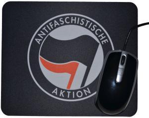 Mousepad: Antifaschistische Aktion (schwarz/rot)