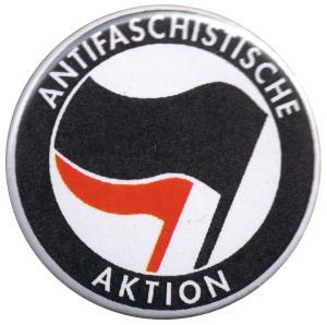 37mm Button: Antifaschistische Aktion (schwarz/rot)