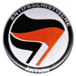 37mm Magnet-Button: Antifaschistische Aktion (schwarz/rot, schwarz)