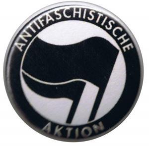 37mm Button: Antifaschistische Aktion (schwarz/schwarz)