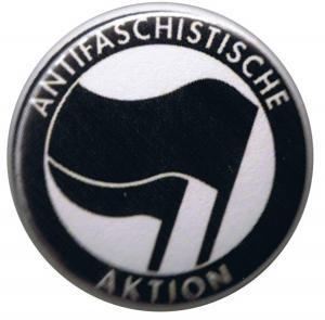 50mm Button: Antifaschistische Aktion (schwarz/schwarz)