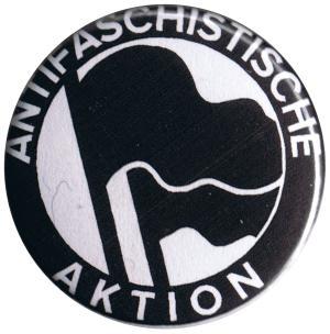 25mm Button: Antifaschistische Aktion (schwarz/schwarz, 1932)