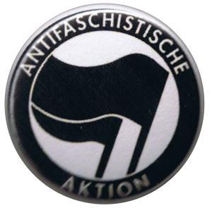 25mm Button: Antifaschistische Aktion (schwarz/schwarz)
