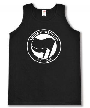 Tanktop: Antifaschistische Aktion (schwarz/schwarz)
