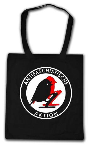Baumwoll-Tragetasche: Antifaschistische Aktion - Vögel
