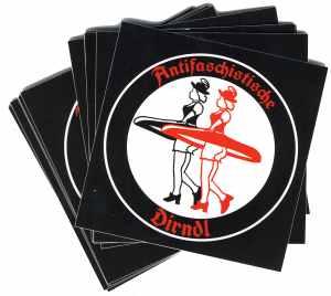 Aufkleber-Paket: Antifaschistische Dirndl