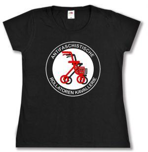 tailliertes T-Shirt: Antifaschistische Rollatoren Kavallerie