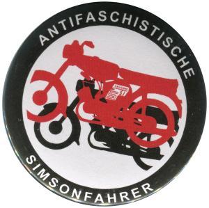 37mm Magnet-Button: Antifaschistische Simsonfahrer