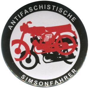 50mm Button: Antifaschistische Simsonfahrer
