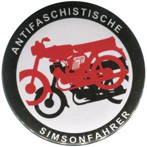 50mm Magnet-Button: Antifaschistische Simsonfahrer