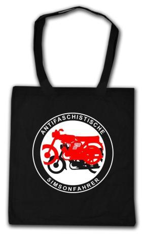 Baumwoll-Tragetasche: Antifaschistische Simsonfahrer