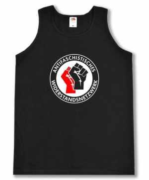 Tanktop: Antifaschistisches Widerstandsnetzwerk - Fäuste (rot/schwarz)