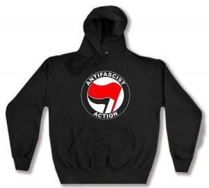 Kapuzen-Pullover: Antifascist Action (rot/schwarz)