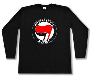 Longsleeve: Antifascist Action (rot/schwarz)