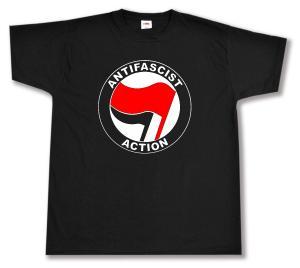 T-Shirt: Antifascist Action (rot/schwarz)