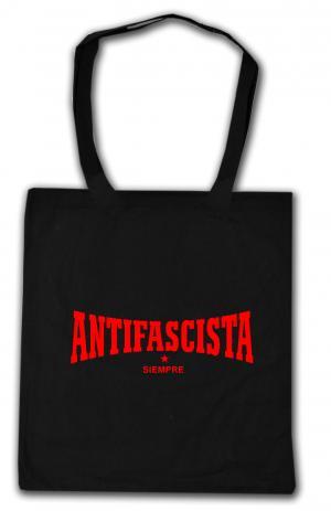 Baumwoll-Tragetasche: Antifascista siempre