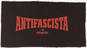 Aufnäher: Antifascista siempre