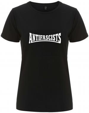 tailliertes Fairtrade T-Shirt: Antifascists