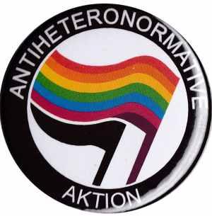 50mm Button: Antiheteronormative Aktion